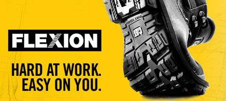 CAT Work Boots Benefit From Flexion Technology
