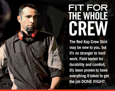 Red Kap Automotive Crew Shirts