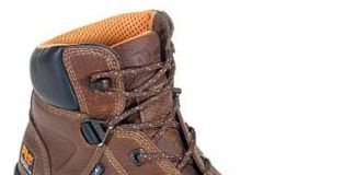 Brown Timberland Work Boot
