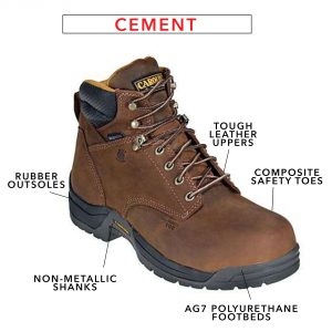 carolina boot with cement construction