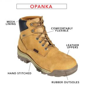 Timberland wheat colored boot with opanka construcction