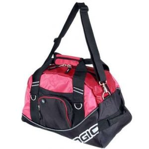Pink and black ogio bag