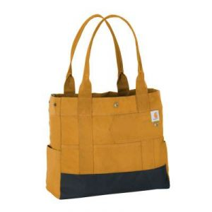 Brown and black Carhartt Women's Tote Bag