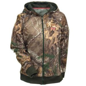 Camouflage Under Armour Zip up hooded sweatshirt