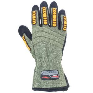 Green and Black Anti Vibration Cestus Gloves