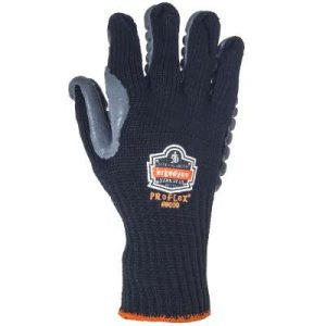 Black and Grey Anti Vibration Ergodyne gloves