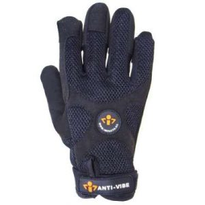 Black Impacto Anti Vibration Work Gloves